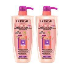 ทบทวน L Oreal Paris Set Keratin Smooth Shampoo 450มล X 2