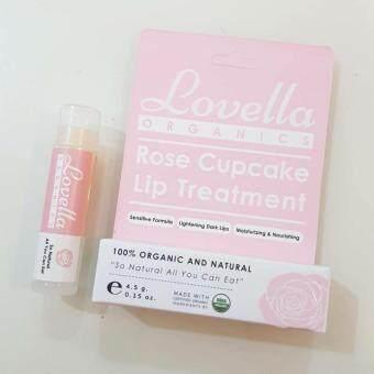 Lovella Organics ลิป โรส คัพเค้ก ลิปทรีทเมนท์ บำรุงริมฝีปาก ลิปแก้ปากคล้ำ ออร์แกนิค 100%