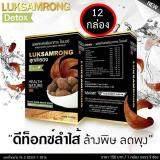ราคา Luk Sam Rong Detox 12 กล่อง ดีท็อกซ์ ลูกสำรอง แบบชง ล้างสารพิษตกค้าง เร่งการเผาผลาญไขมัน 1 กล่อง 5 ซอง Luk Sam Rong