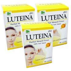 ราคา ลูทีน่า สารสกัดจากดอกดาวเรือง Luteina Marigold Extract 60 Cap X 3 Box Luteina ใหม่