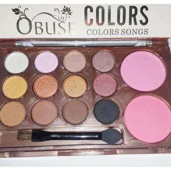Make Up Palette ทาตา 12 สี ปัดแก้ม 2 สี