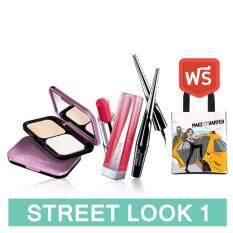 ขาย Maybelline New York Street Look 1 เคลียร์ สมูท ออล อิน วัน 01 ไฮเปอร์อิงค์ ลิป ฟลัช บิทเทน ลิป สี Rd02 ฟรี กระเป๋า Maybelline Line Sticker ออนไลน์