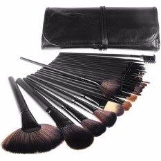 โปรโมชั่น Mega ชุดแปรงแต่งหน้า 24 ชิ้น ขนแปรงนุ่ม ด้ามไม้ Professional Makeup Brush Set Tools Me0089 Black Mega