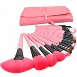 โปรโมชั่น Mega ชุดแปรงแต่งหน้า 24 ชิ้น ขนแปรงนุ่ม ด้ามไม้ Professional Makeup Brush Set Tools Me0089 Pink Mega ใหม่ล่าสุด