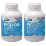 ซื้อ Mega We Care Fish Oil 1000Mg 100เม็ด 2ขวด ถูก