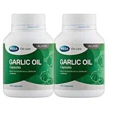 ราคา Mega We Care Garlic Oil น้ำมันกระเทียม ลดโคเลสเตอรอล 100 แคปซูล X2 ขวด ใน กรุงเทพมหานคร