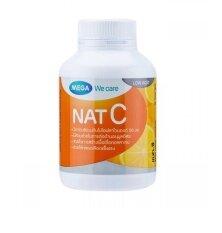 ราคา Mega We Care Nat C 1000Mg 60เม็ด วิตามินซีจากธรรมชาติ ป้องกันหวัด