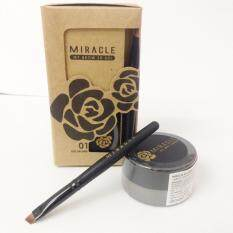 ราคา Mei Linda เจลเขียนคิ้ว Miracle My Brow 3D Gel No2 Black Brown Mei Linda เป็นต้นฉบับ