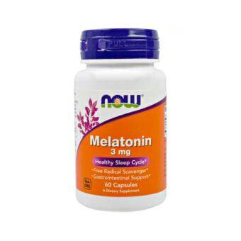 Melatonin เมลาโทนิน 3 mg 60 Capsules (Now Foods)