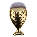 ราคา Mermaid Brush Gold แปรงแต่งหน้าด้ามจับเป็นรูปทรงปลา สไตล์เมอร์เมด สำหรับปัดแก้ม คอนทัวร์หน้า ไฮไลท์เฉดดิ้ง หรือลงรองพื้น สีทอง ราคาถูกที่สุด