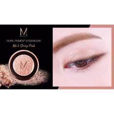 ทบทวน ที่สุด Merrez Ca Pearl Pigment Eyeshadow 05Shinypink