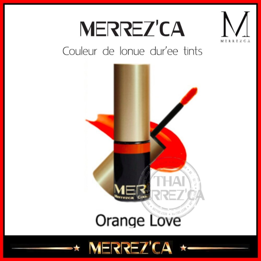 Merrezca Couleur de lonue dur'ee tints #Orange Love