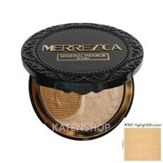 ขาย Merrez Ca Mineral Pearls Blush 301 Highlight Bronzer บรัชออน เมอร์เรซกา Merrezca Merrez Ca ถูก