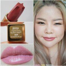 ขาย ซื้อ Mille French Kiss De Star Lipstick ลิปสติกเนื้อแมทกึ่งครีม 3 G สี 006 Strawberry Rough ใน Thailand