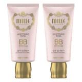 ราคา Mille Super Whitening Gold Rose Bb Cream Spf30 Pa มิลเล่ ซุปเปอร์ไวท์ โกลด์ บีบีครีม ผสมทองคำบริสุทธิ์ No 2 30G Glowing Natural 2 กล่อง เป็นต้นฉบับ Mille