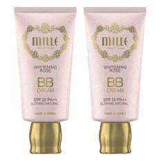 ซื้อ Mille Super Whitening Gold Rose Bb Cream Spf30 Pa มิลเล่ ซุปเปอร์ไวท์ โกลด์ บีบีครีม ผสมทองคำบริสุทธิ์ No 2 30G Glowing Natural 2 กล่อง ถูก