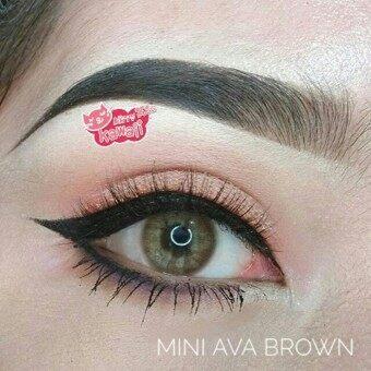 Kitty Kawaii คอนแทคเลนส์ตาฝรั่ง รุ่น Mini Ava Brown ลายฮิต (สีน้ำตาล) ค่าสายตา 0.00 พร้อมตลับใส่
