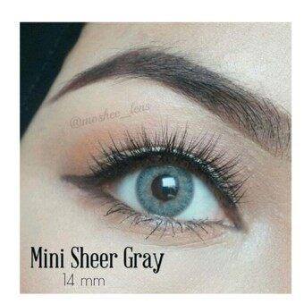 Kitty Kawaii คอนแทคเลนส์ตาฝรั่ง รุ่น Mini Sheer Gray ลายฮิต (สีเทา) ค่าสายตา 0.00 พร้อมตลับใส่
