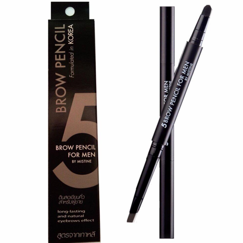ดินสอเขียนคิ้วผู้ชาย Mistine 5 Brow Eyebrow Men Pencil Korea Man Cosmetics Template Vivid New Liner by Aof Pongsak