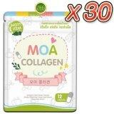 ซื้อ Moa Collagen โมเอะ คอลลาเจน คอลลาเจนสูตรพิเศษ สกัดจากธรรมชาติ เร่งผิวขาวใส ไวท์ออร่า เซ็ต 30 ซอง 12 แคปซูล ซอง
