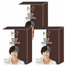 ส่วนลด Mooi Keratin Black Coloring Shampoo โมอิ เคราติน แบลค คัลเลอร์ริ่ง แชมพู ปิดผมขาวเร่งด่วนใน 5 นาที ปิดมิด ผมนุ่ม เงางาม สีน้ำตาล ขนาด 5 ซอง X 3 กล่อง Mooi ใน ไทย