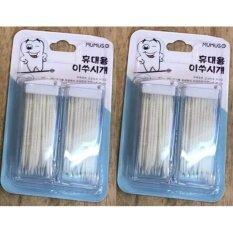 ราคา Mumus ไม้จิ้มฟันพลาสติก ปลายเป็นขน สีขาว 100 ชิ้น กล่อง 2 กล่อง ใน กรุงเทพมหานคร