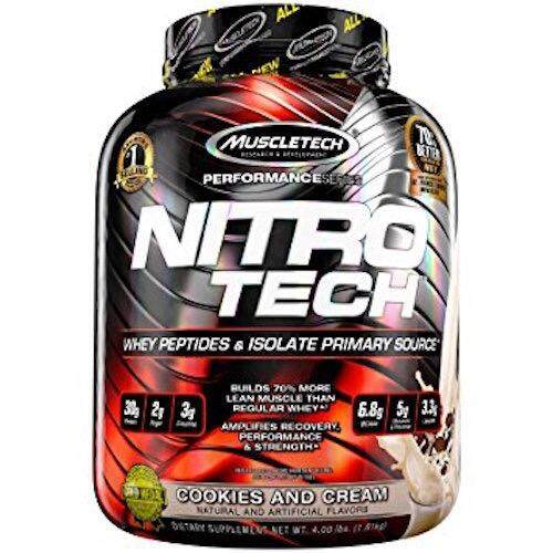 Muscletech NitroTech 3.97lb - Cookies and Cream