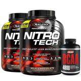 Muscletech Set Nitrotech 4Lbs Chocolate X2 Narlabs Bcaa 240 Caps เป็นต้นฉบับ