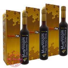 ราคา Mushroom Plus Honey น้ำเห็ดสกัดมัชรูมพลัส สูตรผสมสารสกัดจากน้ำผึ้ง X 3 ขวด เป็นต้นฉบับ