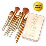 ขาย ซื้อ Naked3 Makeup Cosmetic Brush Set 12 Pcs ชุดแปรงแต่งหน้า 12 ชิ้น กล่องเหล็กแพ็คเกจสวยหรูสีทอง ชุดเซ็ทขนาดพกพา สินค้าขายดี Thailand