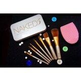 ราคา Naked5 Makeup Cosmetic Brush Set 12 Pcs ชุดแปรงแต่งหน้า 12 ชิ้น ฟรีที่ทำความสะอาดแปรงแต่งหน้า รูปหัวใจ Pink 1ชิ้น ฟรีที่ทำความสะอาดแปรงแต่งหน้า รูปไข่ Pink 1ชิ้น ใหม่