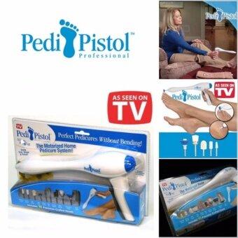 Namita Pedi Pistol เครื่องขัดเท้า ทำเล็บและสปาเท้าแบบไม่ต้องก้ม เครื่องขัดเท้าขจัดรอยเท้าแตก / ขจัดตาปลาที่เท้า ขัดทำความสะอาดได้ทุกซอกมุมของเท้าให้สะอาดขาวเท้าเนียนนุ่ม มีหัวเปลี่ยน 10 หัว