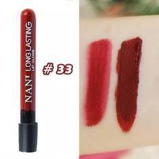 โปรโมชั่น Nani Long Lastin Lip Gloss 33 ลิปแมท สีแซ่บ เนื้อบางเบา จากฮ่องกง Nani Lip
