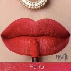 ราคา Nante Creamy Matte Lipstick แนนเต้ลิปออร์แกนิคเนื้อครีม สี Ferra Nante เป็นต้นฉบับ