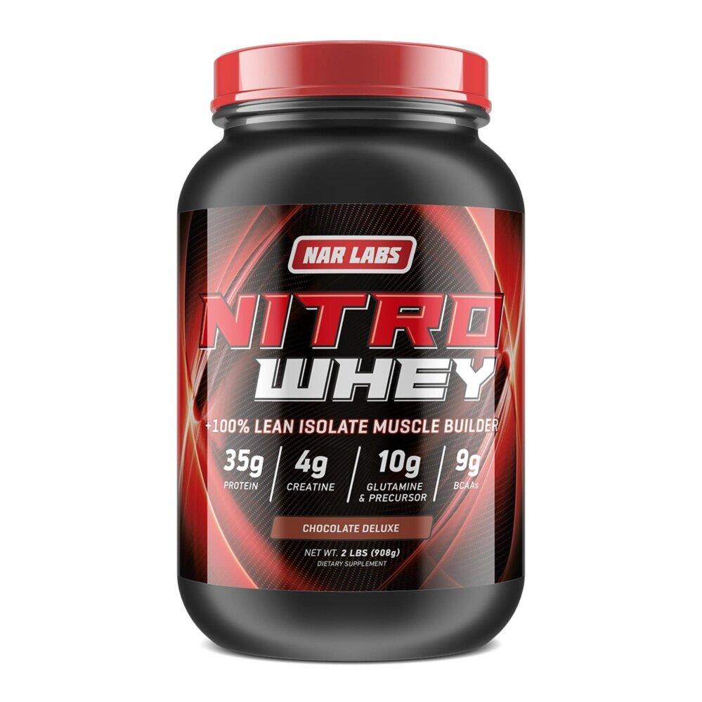 เพิ่มกล้ามเนื้อ แน่นคมชัด โปรตีนสูง NARLABS NITRO WHEY 2LB CHOCOLATE