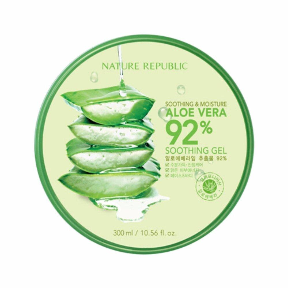 Sale Nature Republic SOOTHING & MOISTURE ALOE VERA 92% SOOTHING GEL ใช้ได้ผลจนต้องบอกต่อ