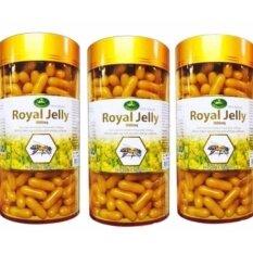Nature S King Royal Jellyนมผึ้ง1000 Mg 3กระปุก Nature S King ถูก ใน กรุงเทพมหานคร