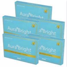 ขาย Aura Bright ออร่า ไบร์ท อาหารเสริมเผื่อผิวขาว บรรจุ 15 แคปซูล 5 กล่อง ผู้ค้าส่ง