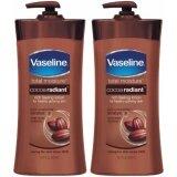 ขาย Cocoa Radiant Rich Feeling Lotion Glowing Skin 725Ml สำหรับผิวแห้ง 2 ขวด Vaseline ออนไลน์