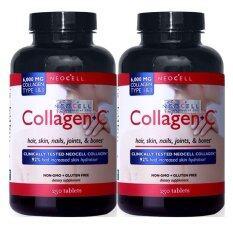 ส่วนลด Neocell Super Collagen C 6 000 Mg Collagen Type 1 3 Non Gmo Gluten Free Vitamin Usa คอลลาเจน ดูแลผิวพรรณ สวยเนียนใส 250 เม็ด X 2 กระปุก Neocell ไทย