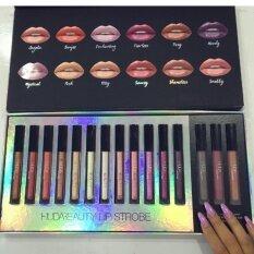 ราคา New Huda Beauty Liquid Matte Lipstick Shimmer Set 15 Color 15 แท่ง ใหม่ล่าสุด
