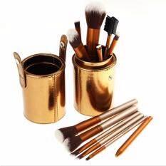 ราคา N*k*d 2 ชุดอุปกรณ์แต่งหน้า Brush Set 12 ชิ้น กระบอกสีทอง สุดหรู