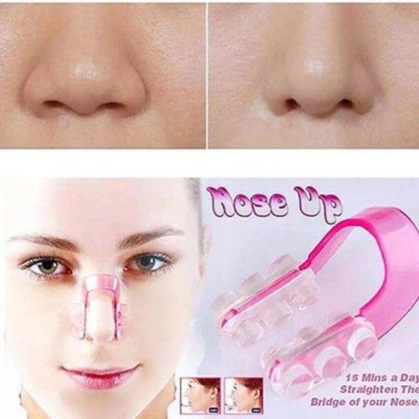 Nose Up Clip Nose อุปกรณ์ปรับรูปจมูกโด่ง ที่หนีบจมูกโด่ง อุปกรณ์เสริมจมูกโด่ง (สีชมพู) image