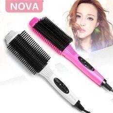 ซื้อ Nova Nhc 8810 หวีแปรงไฟฟ้า ยืดตรง ม้วนโรล ทำวอลลุ่ม สีชมพูบานเย็น Nove ถูก