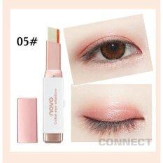 ความคิดเห็น Novo 2Tone Eyeshadow โนโว อายแชโดว์ สีทูนโทนแบบแท่ง เนื้อเนียนละเอียด ใช้ง่าย สีสันสวยงาม รุ่น 5099 สี 05