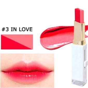 NOVO Lipstick Two Tone ลิปสติกทูโทน สไตล์เกาหลี 3.8g #03 In Love
