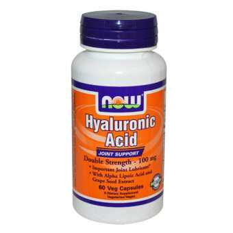 Now Foods : Hyaluronic Acid Double Strength 100 mg 60 Veg Capsules