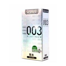 ราคา Okamoto 003 ถุงยางอนามัย 10ชิ้น กล่อง จำนวน 1กล่อง Thailand