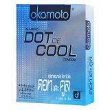 Okamoto ถุงยางอนามัย รุ่น Dot De Cool 12 กล่อง ใหม่ล่าสุด