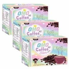 ราคา Omo X 2 Coffee Slim โอโม่ คอฟฟี่ สลิม กาแฟโอโม่ ดื่มปุ๊บ เพรียวปั๊บ บรรจุ 10 ซอง 3 กล่อง เป็นต้นฉบับ
